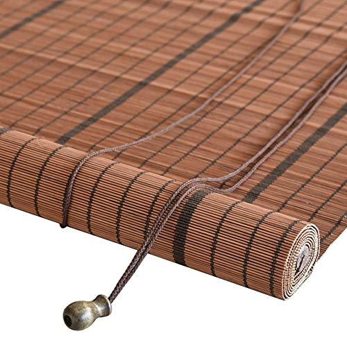 WYAN - Tenda avvolgibile in bambù con gancio, per porte e finestre da interni o esterni, per verande, per esterni, in stile cachi, 85 cm, 100 cm, 125 cm, 150 cm di larghezza (dimensioni: 125 x 130 cm)