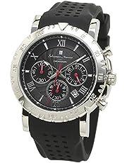 [サルバトーレマーラ] クロノグラフウォッチ 10気圧防水 メンズ 腕時計 クォーツ ラバーベルト 時計クロス付き