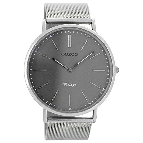 Oozoo Herren Digital Quarz Uhr mit Edelstahl Armband C7382
