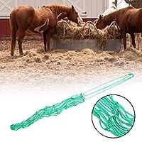 グラスネットバッグ20ストランドナイロンロープ馬用餌用品ペット用品(Green medium)