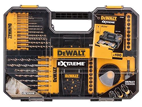Dewalt DEWDT70620T - Juego de brocas y SDS (100 unidades, talla única, 100 unidades), color amarillo