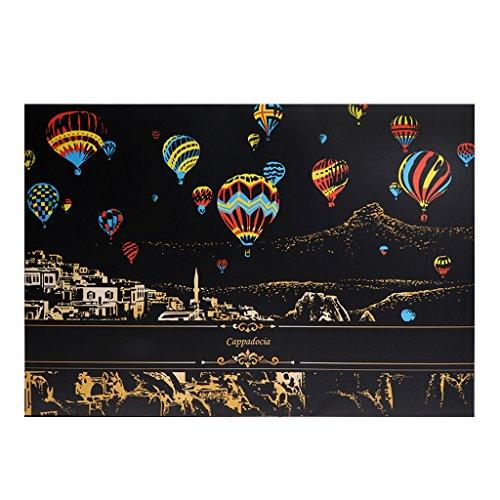 ZJL220 2 Blatt Scratch Pictures Papier 41x29cm Creative Set Bildschirm Postkarte DIY Geschenke