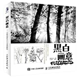Black and White Painting - Nature Landscape Painting and Creative Tutorials(Chinese Edition)