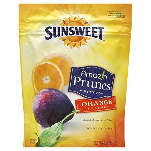 Sunsweet Amazn Prunes Pitted Orange Essence 6oz Pack of 3