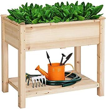 YAHEETECH Wooden Raised Elevated Garden Bed Kit w/Legs