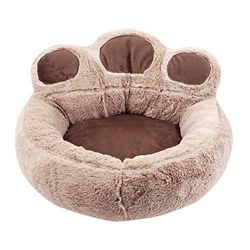 Ronde hondenmand Wasbare lange pluche Hondenkennel Kattenhuis Superzachte katoenen matten Bank voor hond Chihuahua Beste huisdierbed voor kattenbed