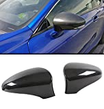 Real Carbon Fiber Direct Add-on Side Mirror Cover Caps Pair Compatible With Fits 2013-2019 Lexus Models