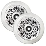 Fuzion Pro Scooter Wheels 110mm Hollow Core Stunt Scooter Sig Wheels with ABEC - 9 Bearings Pair (Hollowcore Leo Spencer)