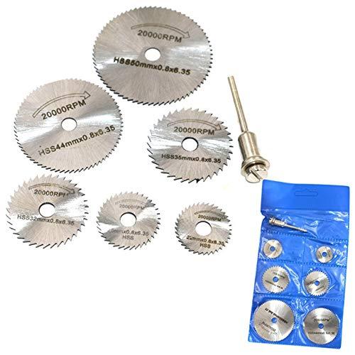 Durable 6 Ruedas de disco de alta velocidad for tristes for brocas, herramientas giratorias + cuchilla de corte de hoja circular de mandril # 30 Adecuado para cortar (Color : Silver)