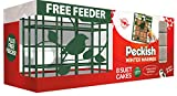 Peckish Winter Warmer Energy Suet Fat Cake Blocks for Wild Birds 8 Pack with Free Suet Cake Block Feeder