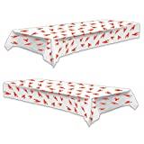 Crawfish Boil Party Supplies - Plastic Table Covers Mardi Gras and Seafood Festivals (2 Pack)