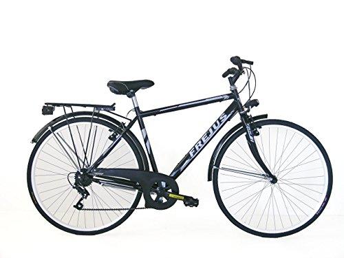 Frejus Manchester, Bicicletta da Città Uomo, Nero, M, 28 pollici, 6 velocità
