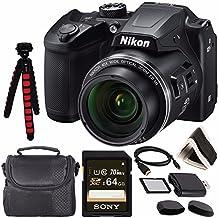 "Nikon COOLPIX B500 Digital Camera (Black) 26506 + Sony 64GB UHS-I SDXC Memory Card (Class 10) + Flexible 12"" Tripod + Smal..."