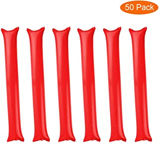 Thunder Sticks, Inflatable Stadium Noisemakers Bam Bam Cheer Sticks Blow Bar Inflatable Boom Sticks Noisemakers Stick Basketball Football Noisemakers Party Favors (Red)