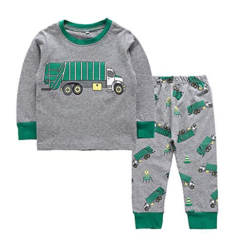 Truck Pajamas, Boys Sleepwear Clothes T Shirt Pants Set for...