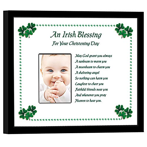 Poetry Gifts Irish Christening Gift for Baby Boy or Girl - Irish Blessing Frame, Add Photo