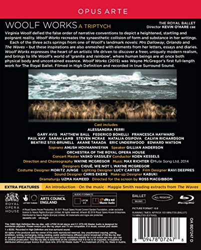 Richter: Woolf Works [Anush Hovhannisyan; Gillian Anderson; Orchestra of The Royal Opera House; Koen Kessels] [Opus Arte: OABD7247D] [Blu-ray] [2019]