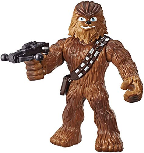 "Star Wars Galactic Heroes Mega Mighties Chewbacca 10"" Action Figure with Bowcaster Accessory, Toys for Kids Ages 3 & Up"