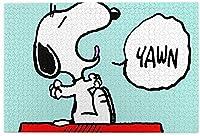 スヌーピー Snoopy ジグソーパズル アニメ 500ピース 1000ピース 大人用 子供用 木製 ラージピース パズル ピクチュアパズル 脳を鍛える 子ども向けパズル 寝室の飾り付け 漫画 ギフト プレゼント キャラクター 参考ポスター付き フレームなし 部屋飾り