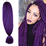 48 inch Braiding Hair kanekalon Crochet Braids Synthetic Hair Extensions x-pression Jumbo Braid Hair 57G (48 inch, Purple)