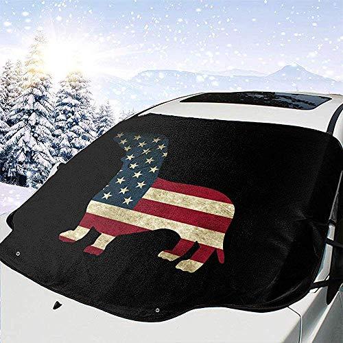 Tridge Auto-Frontscheiben-Schnee-Abdeckungs-Dackel USA-Flaggen-Frostschutz-Schutz