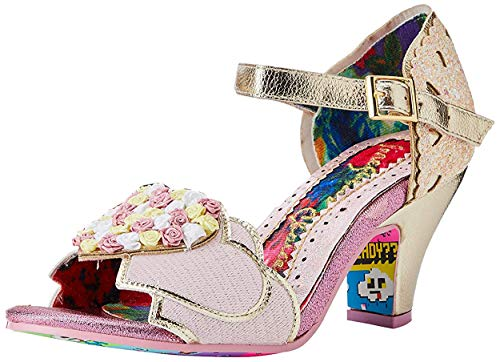 Irregular Choice Darling Bud, Zapatos de tacón con Punta Abierta para Mujer, Rosa (Pink B), 38 EU