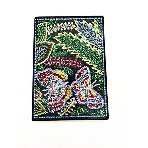 5D DIY diamonds painting notebook blank A5, cuadernos de notas bonitos cuaderno hojas blancas A5 diarios en blanco cuadernos bonitos niña diario secreto regalos navidad mariposa