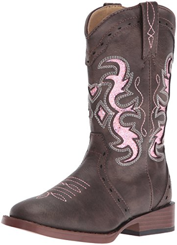 Roper Girls Lexi Western Boot, Brown, 1 Little Kid