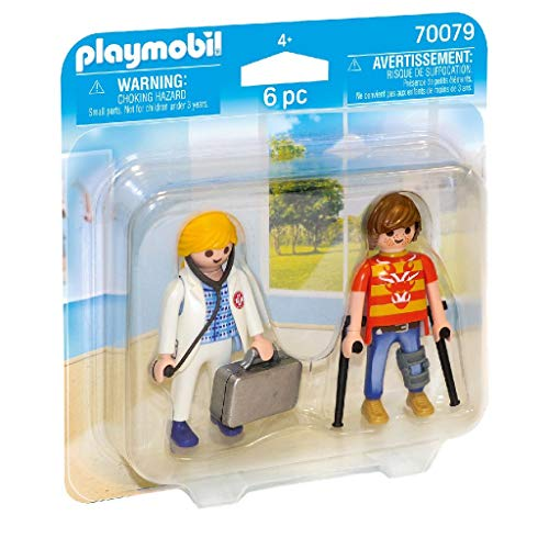 PLAYMOBIL- Duo Pack Duopack Doctora y Paciente, Multicolor (70079)