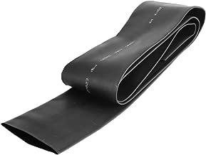 uxcell 1 Meter 65mm Flat Width 40mm Dia Ratio 2:1 Heat Shrinkable Shrinking Tube Black