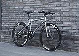 Bicicletas de carretera para hombres y mujeres, bicicletas de 24 velocidades 26 pulgadas, solo para adultos, cuadro de acero de alto carbono, bicicletas de carretera, bike con doble freno de disco,G