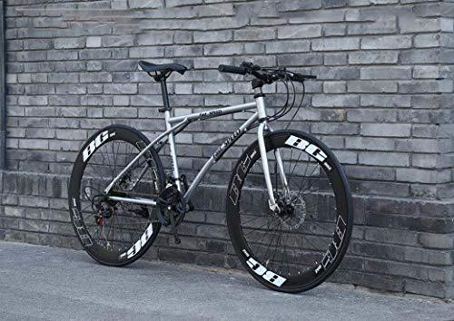Bicicletas de carretera para hombres y mujeres, bicicletas de 24 velocidades 26 pulgadas, solo para adultos, cuadro de acero de alto carbono, bicicletas de carretera, bike con doble freno de disco