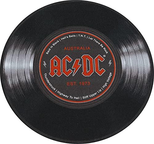 AC/DC Z870815 50 - Tappeto rotondo in vinile, Ø 50 cm, colore: Nero