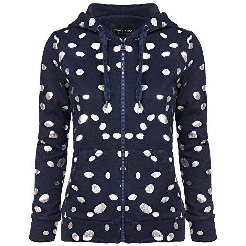 ONLY Damen Sweatjacke, Farbe:dunkelblau;Größe:M