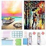 Kits de Pintura de Diamantes 5D para Adultos y niños, Paquete de 2 Kits de Punto de Cruz con...