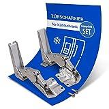 Juego de bisagras de puerta de repuesto para Bosch 481147 00481147 para puerta de frigorífico, AEG Bosch y Siemens, 2 unidades