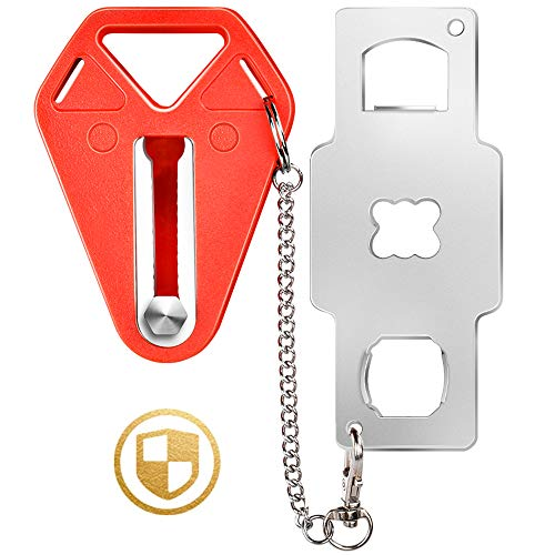 Portable Door Lock, Travel Lock, Door Locker from Inside Extra Security Measure for Airbnb, Hotel, Home, Apartment Safety and Prevents Unauthorized Entry