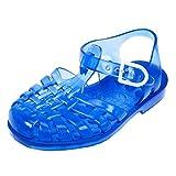 Méduse - Sandales en plastique bleu translucide - Bleu - 24