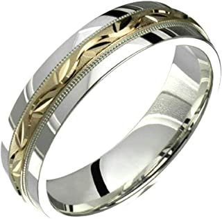 Princess Kylie Yellow Gold-Tone Plated 925 Sterling Silver 6MM Plain Eternity Wedding Ring