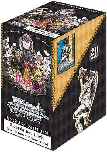 Weiss Schwarz TCG JoJo Booster Box - 20 Packs English 8 Cards per Pack