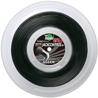 ゴーセン(GOSEN) ジャックコントロール 16 ロール (テニス用) ブラック 200m TS1902-BK