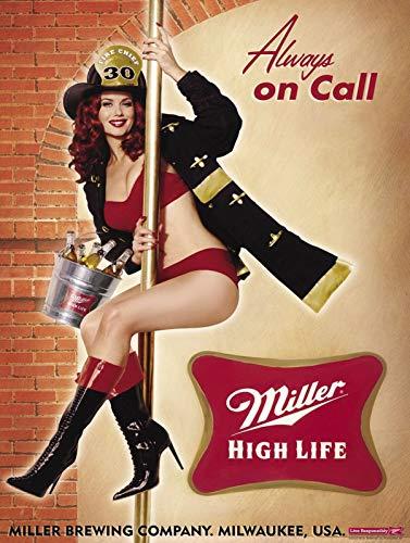 Miller High Life Metal Tin Sign 8x12 Inch