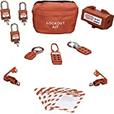 TSafe Personal Lockout Tagout Kit- with Locks, Hasps, Breaker Lockouts, Plug Loto, and Tags- Lock Out Tag Out Set