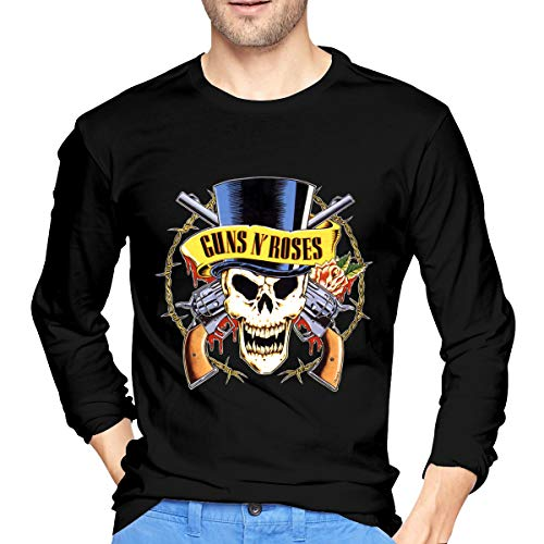 Gun N' Roses T-Shirt Men's Long Sleeve Cotton Tee Shirt Classic Round Neck Tops S