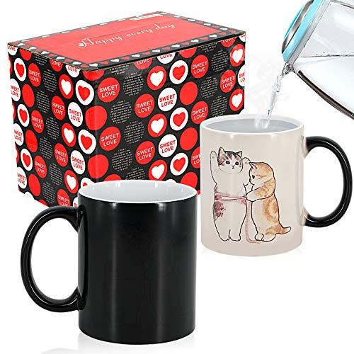 Zaubertasse, Kaffeetasse, Kaffeebecher, Tasse, Tassen Lustig, Kaffeebecher, Geschenke für Frauen Männer Freundin Mama, Geschenk für Ihn Sie, Pärchen Geschenke, Paar Geschenke, Beste Freundin Geschenke