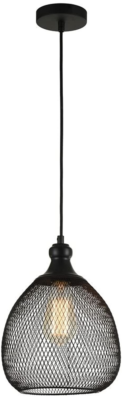 Dekorative Pendelleuchte, Loft Design, schwarzes Metall, Metallnetzdekor, exkl. E27 60W, 220-240V