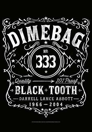 Dimebag darrell guitares drapeau tooth noir - 100 % polyester-dimensions : 75 x 110 cm