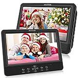 WONNIE 10.5 '' Double Lecteur DVD Portable Voiture 1024 * 600 avec de Puissants Haut-parleurs stéréo, Batterie Rechargeable...