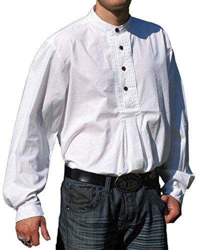 HEMAD Trachtenhemd Pfoad Isar Baumwoll Hemd weiß XXXL