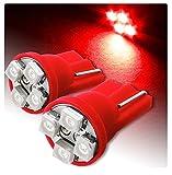 2 LUCI DI POSIZIONE LED ROSSO RED T10 4 SMD lampadina auto 6000K 12V W5W car xenon